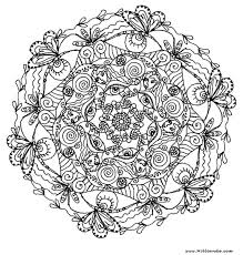Pour Adultes Mandala Difficile Dessin Complique Mandala Pour