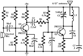 circuit zone com electronic projects electronic schematics diy 80 mhz 108 mhz fm transmitter