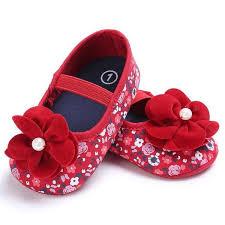 Newborn Baby Girl Shoes Spring Summer Soft Soled Flower Shoes Infant ...