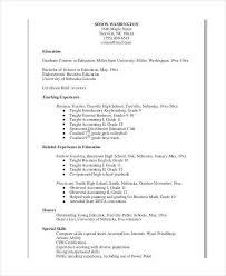 41 Teacher Resume Formats Sample Templates
