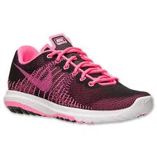 nike shoes for girls pink and black. girls\u0027 nike flex fury running shoes black/white/pink pow in usa for girls pink and black s