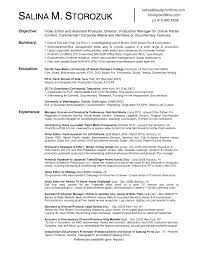 Tv Production Resume Examples Tv Producer Resume Template Producer Resume Template