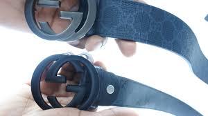 Fake Designer Belts Fake Gucci Supreme Belt From Ebay Fake Vs Real