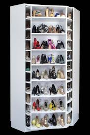 four sided rotating closet shoe rack by lazy lee