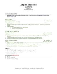 sample resume no job experience no work experience resume objective for  resume for college student sample