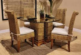 medium size of outdoor wicker dining table sets round set teak chairs room rattan furniture wonderful