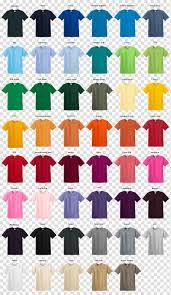 T Shirt Color Chart T Shirt Gildan Activewear Sleeve Clothing Color Chart
