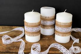 Simple Candle Decoration Simple Burlap And Lace Candles