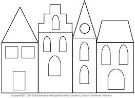 Fensterbild Häuser Mit Transparentpapier 3