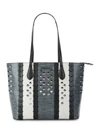 donna karan studded leather tote