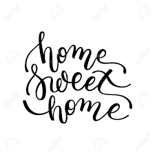 Lettering Templates Home Sweet Home Hand Lettering Template For Card Poster Print