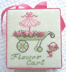 French Cross Stitch Charts French Flower Cart Cross Stitch Chart Jbw And 50 Similar Items