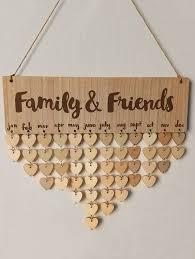 family and friends diy wooden birthday calendar board burlywood