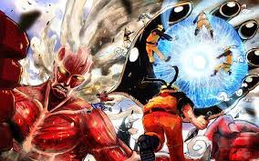 Naruto, Attack on Titan, Bleach, and One Piece | Anime crossover, Anime  wallpaper, Anime