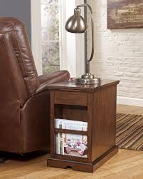 chairside end table with swing arm lamp