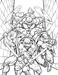 teenage mutant ninja turtles in the alley coloring page enjoy