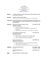 Non Profit Resume Samples Resume Work Template