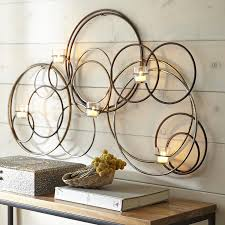 Circle Tea Light Holder Iron Circle Tealight Candle Holder Wall Sconce Candle Wall