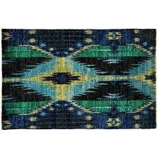 blue ikat area rug area rug 4 0 x 6 1 diamond ikat area rug blue