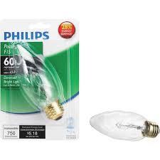 Decorative Halogen Light Bulbs Philips F15 Medium Halogen Decorative Light Bulb 474346