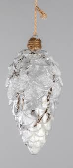 Christbaumschmuck Hängedeko Zapfen Aus Glas Tannenzapfen 15 Cm