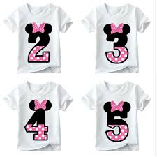 boys and girls happy birthday number 1 9 letter print t shirt enfant summer white t shirt kids funny present hkp2416