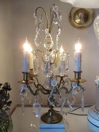 antique french brass crystal chandelier made in spain