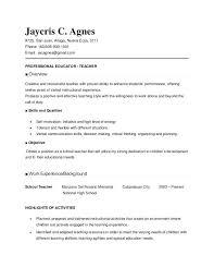 Sample Of Resume Of Teacher Resume Directory