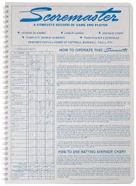 Super 16 Baseball Softball Scorebook