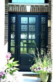 glass panel exterior door front entry with frosted doors best single pane