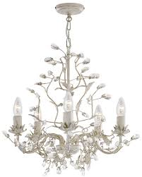 almandite 5 light cream chandelier with gold fleck and crystal 2495 5cr