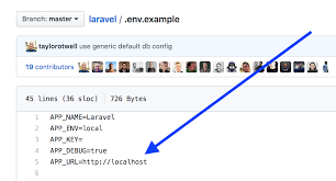 change app url in laravel env file