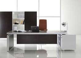 modern home office features. cool home office ideas with modern executive desk and white porcelain floor tiles features