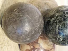 Decorative Marble Balls Interesting Set Of Four Early 32th Cent Marble Balls Decorative Items