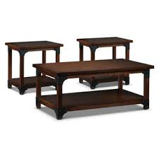 Wellington Coffee Table And Two End Tables   Walnut