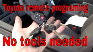 Toyota Sienna How to program keyless entry remote control ...