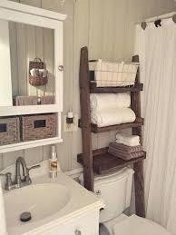 diy small bathroom storage ideas. Small Bathroom Storage Ideas Over The Toilet Ladder Shelf Choose Finish Rustic Diy