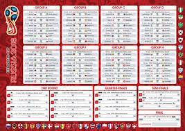 World Cup Wall Chart 2018 Russia Planner Fixtures Football