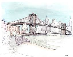 architectural drawings of bridges. Simple Bridges Brooklyn Bridge Drawings Architectural Park Slope Sketch  For Of Bridges E
