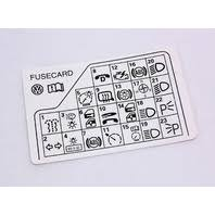 fuse diagram key card 98 05 vw passat b5 genuine 3b0 010 241 f fuse diagram key card 98 05 vw passat b5 genuine 3b0 010 241