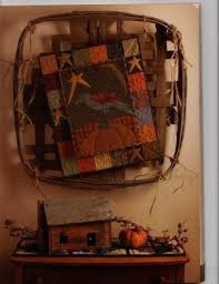 45 best Primitive Quilts and Projects Magazine images on Pinterest ... & Gorgeous Autumn wallhanging- Primitive Gatherings design in primitive Quilts  & Projects Magazine - clever way to display it, too! Adamdwight.com