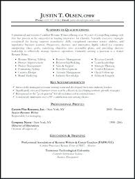 Resume Formats Examples Sample Of Chronological Resume Format With ...