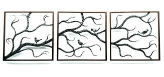 tree wall art metal large outdoor awesome birch fish family of life decor trees