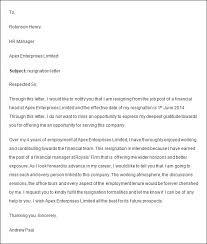 resignation letter format resignation letter sample of resignation letter 2016 format for resignation letter