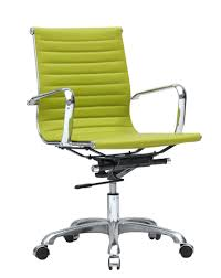 mid century modern conference office chair mid back lime green office contemporary furniture warehouse