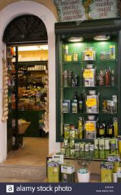 gifts and souvenirs selling olives and olive oil s and specialty food in kerkyra corfu town greece