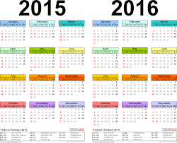 two year calender template 1 pdf template for two year calendar 2015 2016 landscape