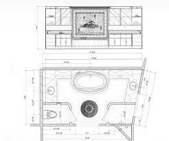 Master Bathroom Layout And Floor Plans Design With Walk In Closet ...
