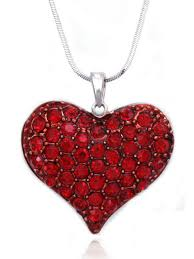 cocojewelry small heart crystal pave pendant necklace valentine s day jewelry