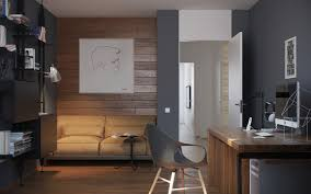 gray home office. Home Office : Ideas For One Bedroom Apartment With Study Includes Floor Plans Design Gray And Wood Interior Room Decoration Tips Professional